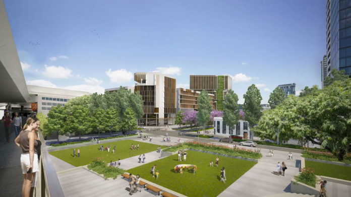 Artist's impression of the Queensland Government's plan the Cultural Centre Precinct