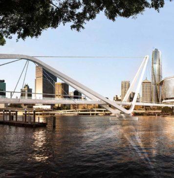 Artist's impression of the finalised design for Neville Bonner Bridge