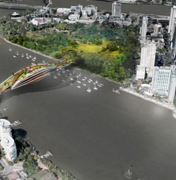 Conceptual bridge design linking Kangaroo Point to the Brisbane CBD