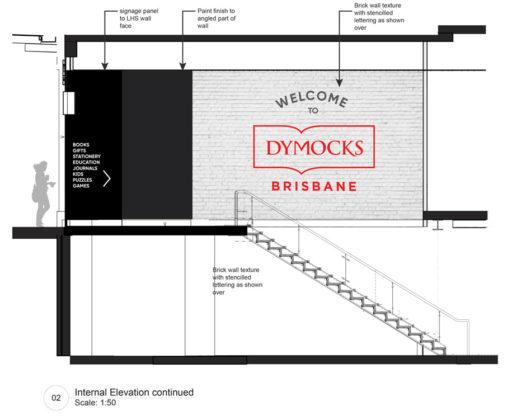 Elevation of Dymocks Brisbane entry