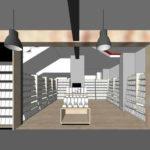 Artist's impression of internal Dymocks store