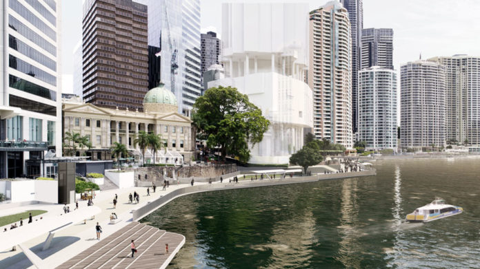 Artist's impression of Customs House section of the City Reach Waterfront Master Plan