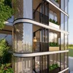 Artist impression of balcony
