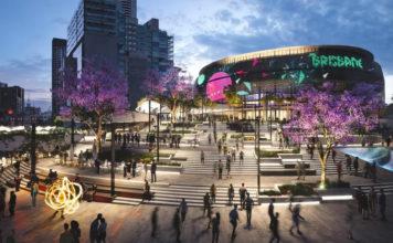 Artist's impression of a concept Brisbane Live design