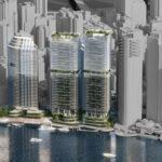 Artist's impression of Dexus' updated 'Waterfront Brisbane' proposal