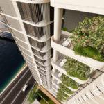 Artist's impression of balcony sky gardens
