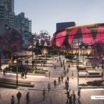 Artist's impression of a concept Brisbane Live design showing new public square