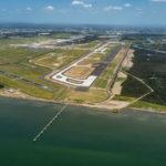 Image of Brisbane Airport's new runway. Source: BAC