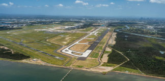 Image of Brisbane Airport's new runway. Source: BAC