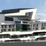 Artist's impression of Wynnum Plaza redevelopment from upper Wynnum Rd