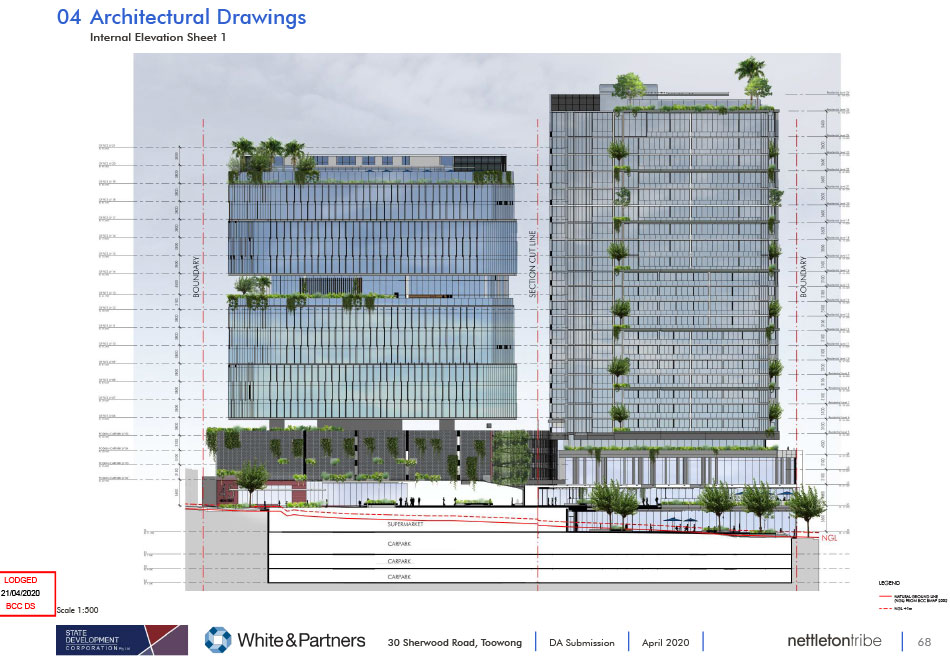 Artist's impression of Toowong Town Centre Development Commercial Tower Recreation