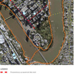 Proposed map of pop up cycling lanes in Brisbane CBD