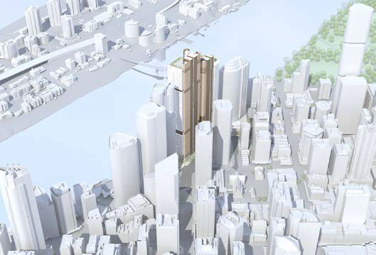 Proposed Brisbane Waterfront tower model massings