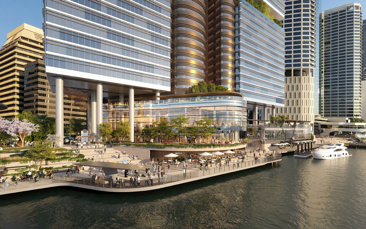 Artist's impression of Waterfront Brisbane development by Dexus
