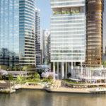 Artist's impression of Riverwalk as part of Waterfront Brisbane development