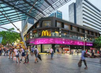 Artist's impression of new digital screen facade as part of 130 Queen Street upgrade