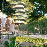 Artist's impression of Glenelg Street green spine masterplan vision