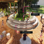 Architectural rendering of the indicative playscape