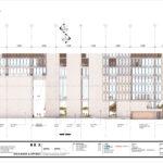 Podium facade elevation from Herschel Street