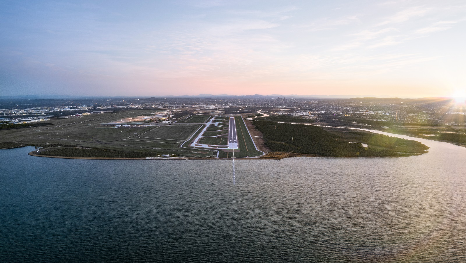 Ribbon cutting at Brisbane Airport's newest runway