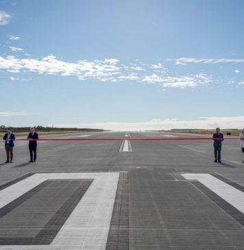 Ribbon cutting at Brisbane Airport's newest runway