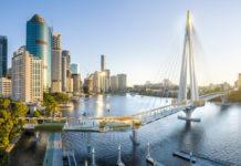 Architectural rendering of Kangaroo Point Pedestrian Bridge