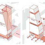 Architectual diagram of vertical form