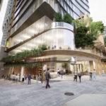 Architectural rendering of 60 Queen Street from Burnett Lane