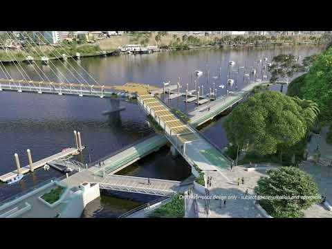 Architectural rendering of Breakfast Creek bridge