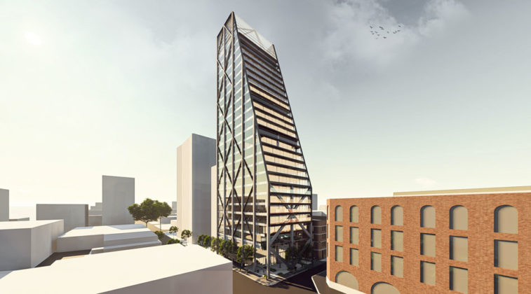 Architectual rendering of proposed 251 Wickham Street, Fortitude Valley