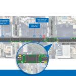 Proposed map of pop-up bike lanes along Edward Street, Brisbane CBD