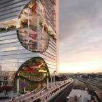 Conceptual rendering of Griffith University's proposed Brisbane Live precinct tower campus