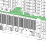 Proposed landscaping on podium level