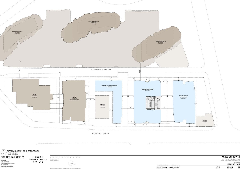 Map of development within surrounding Bowen Hills area