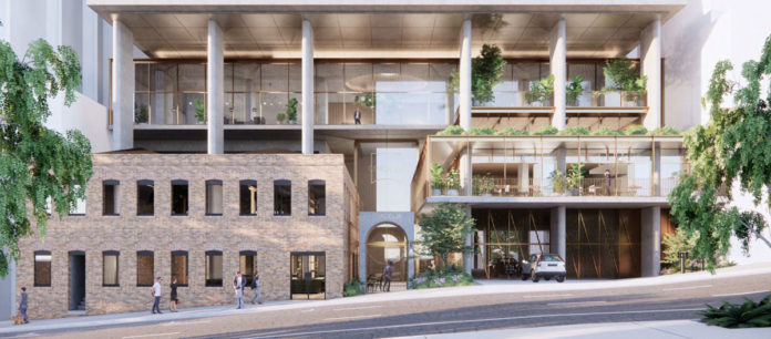 Architectual rendering of the facade of 13-17 Cordelia Street, South Brisbane