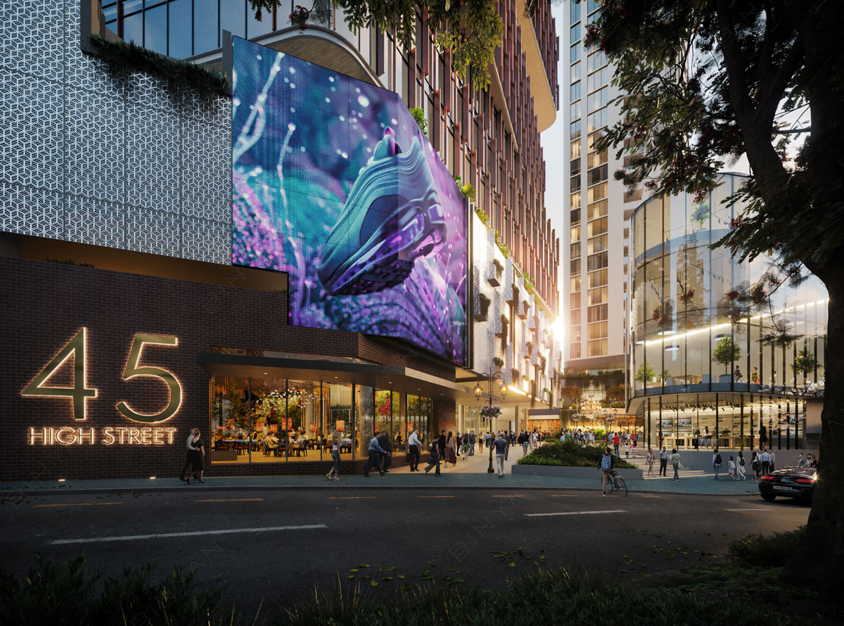 Architectural rendering of The Aviary development at Toowong