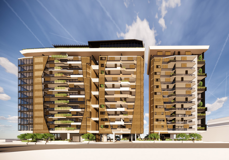 Architectural rendering of 8 River Terrace, Kangaroo Point