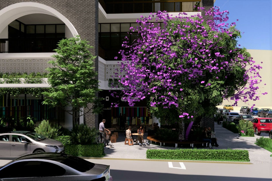 Architectual rendering of proposed 'Oro' streetscape