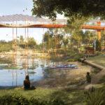 Rendering of Lake Barrambin - Victoria Park