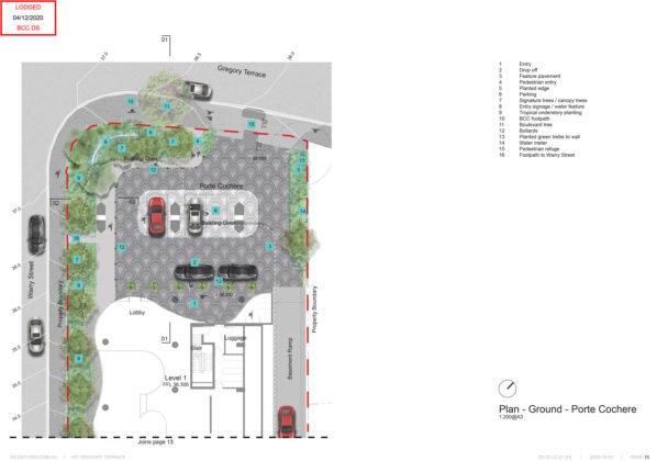 Landscape plan of proposed driveway