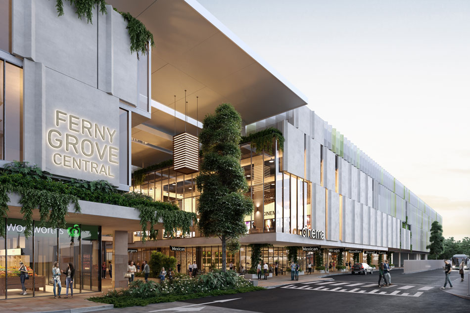 Architectural rendering of Ferny Grove Central retail