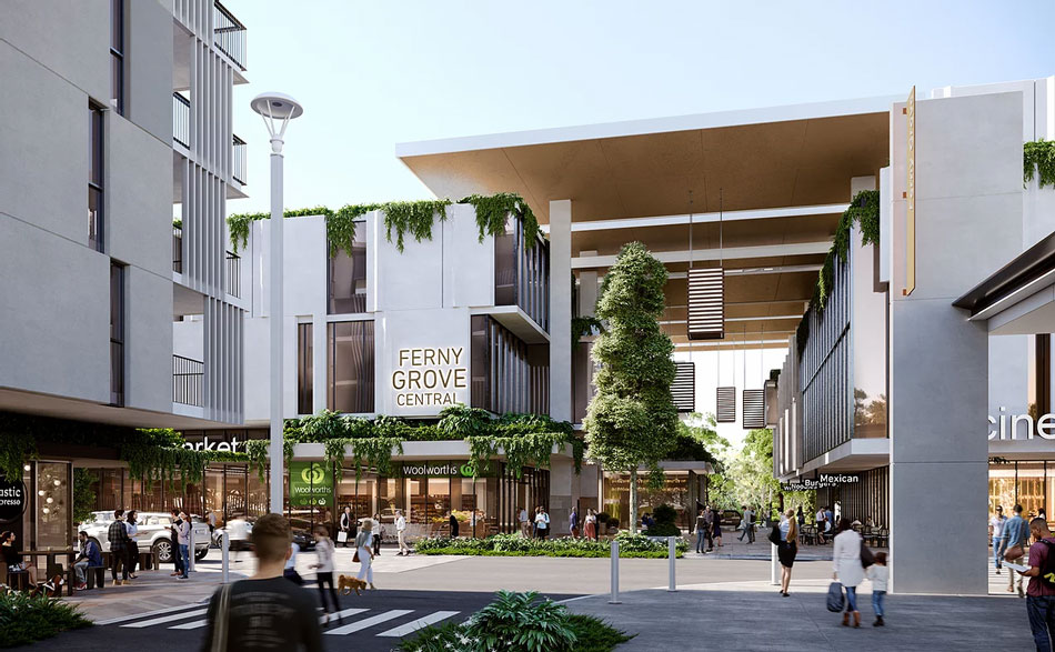 Architectural rendering of Ferny Grove Central apartments