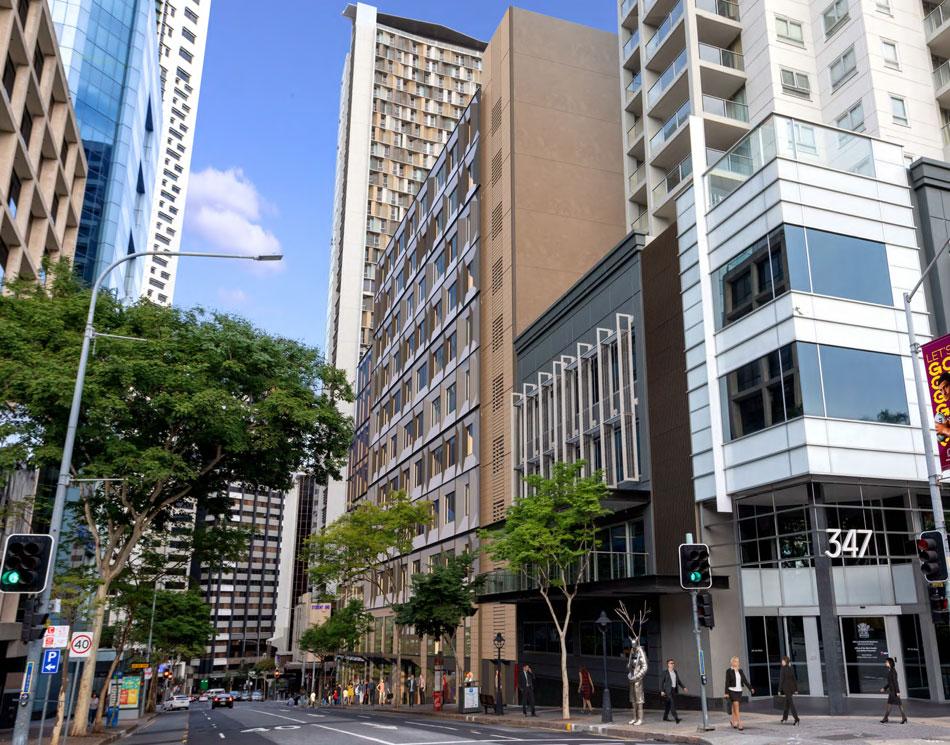 Architectual rendering of 320 Adelaide Street refurbishment