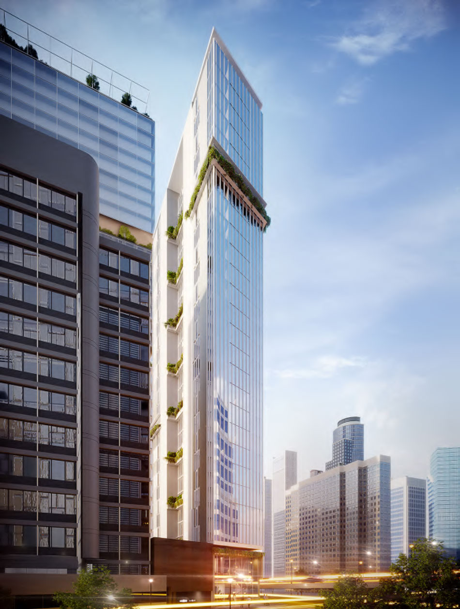 Architectural rendering of proposed 44 Roma Street