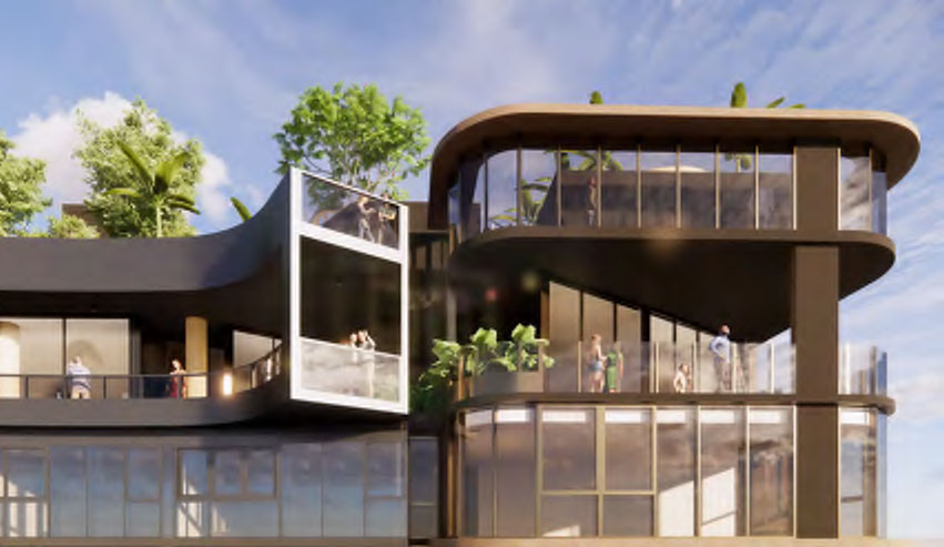 Architectual rendering of 210 Brunswick Street, Fortitude Valley's top viewing deck