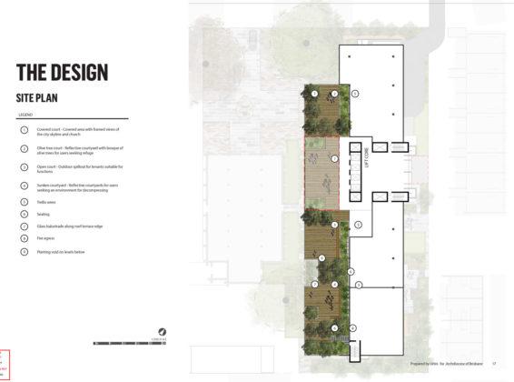 Rooftop landscape plan
