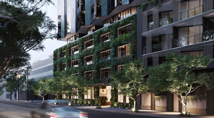 Architectural rendering of Cavcorp's new Italian Club residential building