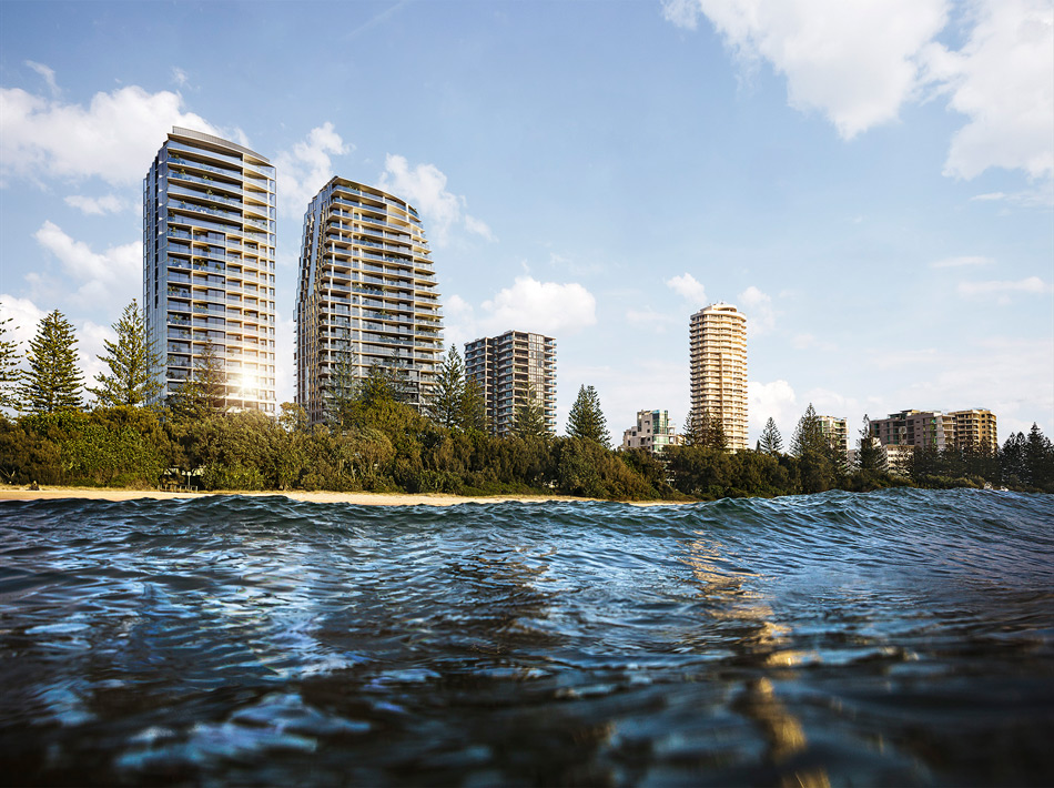 Architectural rendering of The Mondrian Gold Coast