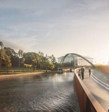 Architectural rendering of proposed Breakfast Creek Green Bridge