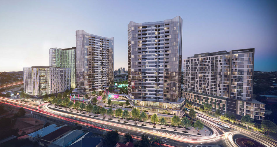 Architectural rendering of previous development application known as Park Central